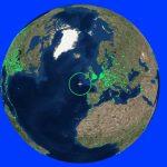 Internetradio Weltkarte von Radio Garden